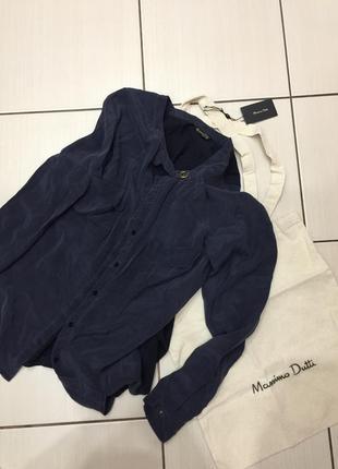 Massimo dutti блуза р.xs шелк коттон