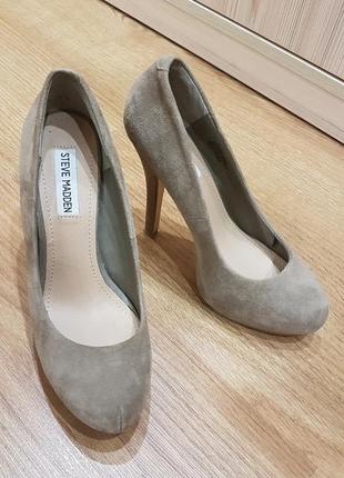 Туфли замшевые steve madden 38 р.(24,5 см.)