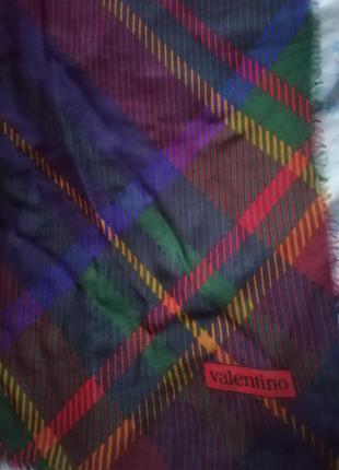 Valentino большой шерсть платок, шаль.