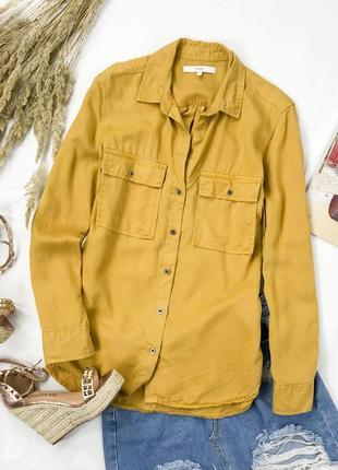 Оверсайз рубашка горчичного цвета  bl 1945090  next