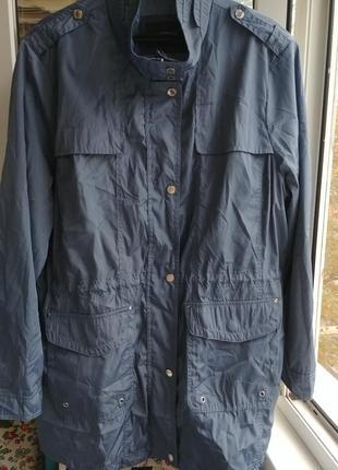 Обалденная серо - голубая курточка ветровка на 52 -54 -56
