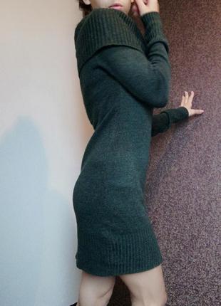 Платье на плечи с горловиной h&m теплое платье