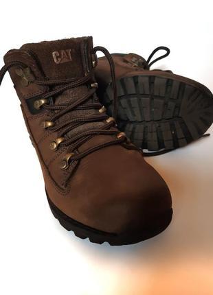 Кожаные демисезонные ботинки caterpillar, стелька 22 см