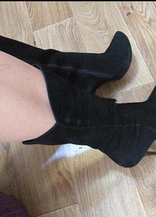 Сапоги ботинки сапожки натуральный замш