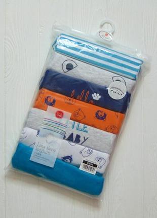 Cool club. размер 12 месяцев. новый комплект из 7-и бодиков с длинным рукавом для модника