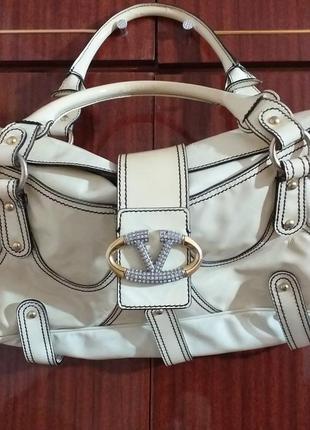 Женская сумка valentino, оригинал, лакированная кожа