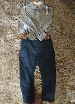 Нарядный комплект костюм рубашка брюки на 5 лет