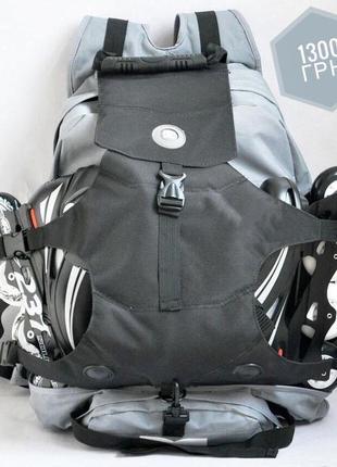 Рюкзак dc под ролики, серый с черным