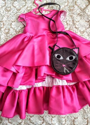 Нарядное платье платьице волан сумочка malyna на день рождения праздник