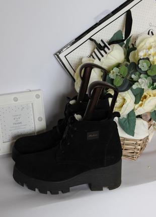 Зимние ботинки замшевые рр 37