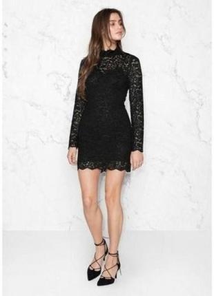 Маленькое чёрное гипюровое ажурное платье мини & other stories