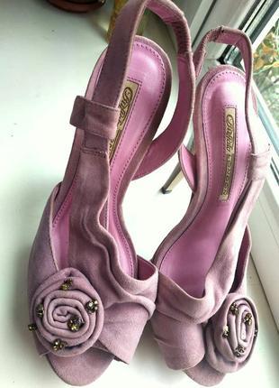 Босоножки розовые женские 38 размер.оригинал буффало лондон