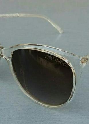 Jimmy choo очки женские солнцезащитные б бежевой прозрачной оправе
