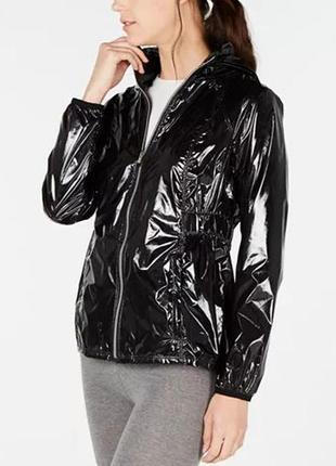 Куртка дождевик лаковая черная calvin klein оригинал