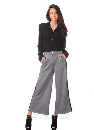 Актуальні брюки кюлоти 38р.від bridge для стрункоі дівчини
