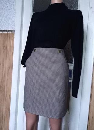 Классная юбка в клетку. перепродажа.