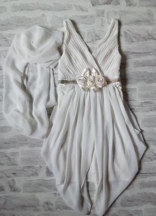 Праздничное платье с шалью для юной леди!