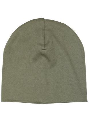 Трикотажная шапка хаки для мальчика, h&m, 0694744003