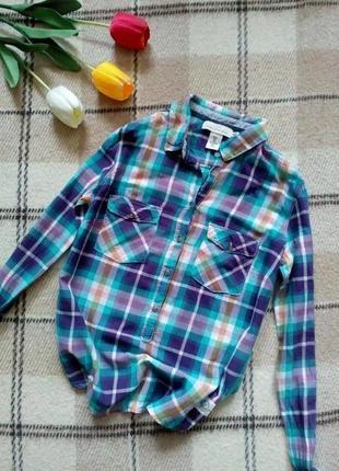 Свободная рубашка в клетку сорочка h&m