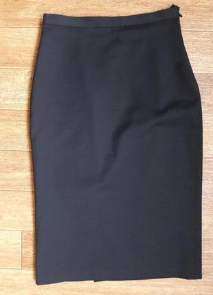 Черная юбка- карандаш s , xs классическая узкая юбка