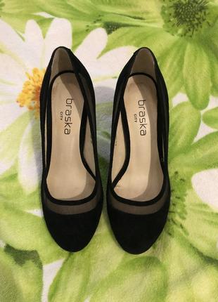 Туфли черные замшевые braska city 36 р