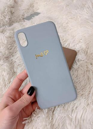 📱 чехол для iphone xs max серый apple case