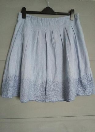 Шикарная юбка. пышная юбочка . вышивка. для пышных пани. большой размер.