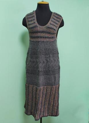 Теплое зимние платье сарафан ангора с шерстью