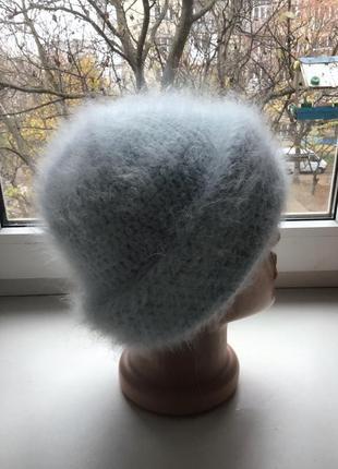 Нежнейшая ангоровая шапочка небесного цвета  на подкладке от big