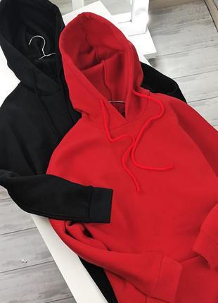 Теплые платья-худи с капюшоном 120045 размер s/m/l