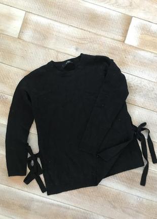 Кашемировый свитер на завязках hallhuber