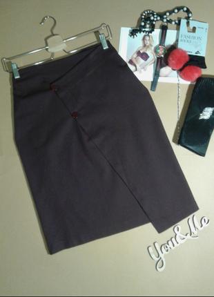 Стильная котоновая юбка миди на запах, италия