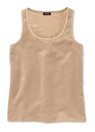 Стильная блуза-майка с перфорацией, мягенькая замша, тсм чибо германия