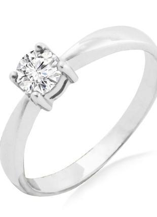Золотое кольцо с натуральным бриллиантом 0,44 карат