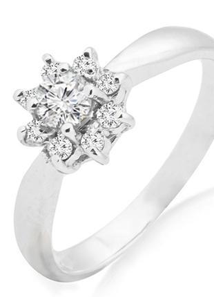 Золотое кольцо с бриллиантами 0,26 карат