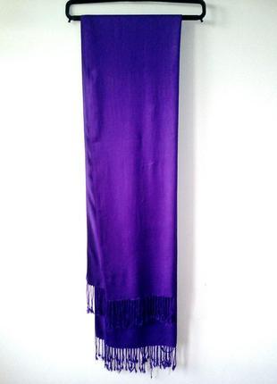 Фиолетовый шарф из пашмины, качественный шарф, кашемировые шарф