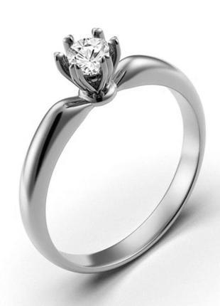 Золотое кольцо с бриллиантом 0,31 карат