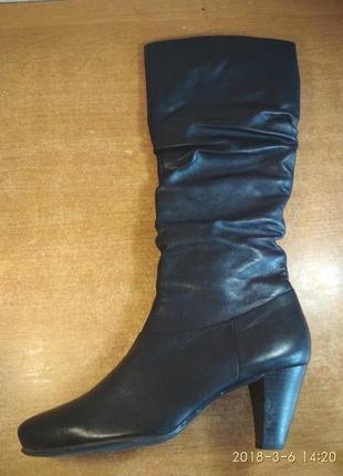 Tamaris фирменные утепленные кожаные сапоги оригинал