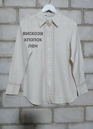 Рубашка блуза из тканого льна  wear casual
