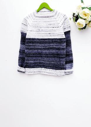 Теплый свитер стильный свитерок грубой вязки
