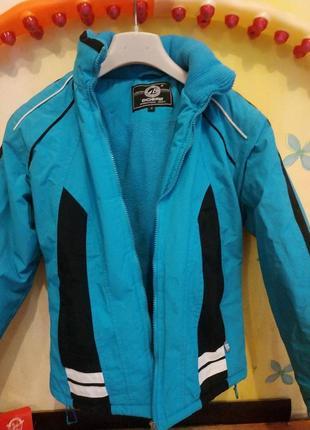 Куртка лыжная с флисовой подкладкой dobest теплая, зимняя