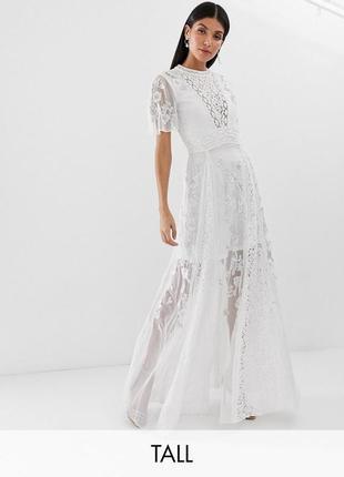 Amelia rose біла сукня з мереживом розшита бісером та паєтками