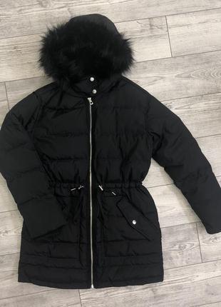 Зимний пуховик, пальто gap. натуральный пух
