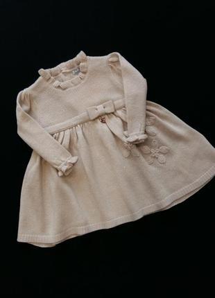 Нарядное вязаное платье mayoral (испания) на 3-6 месяцев (размер 68)