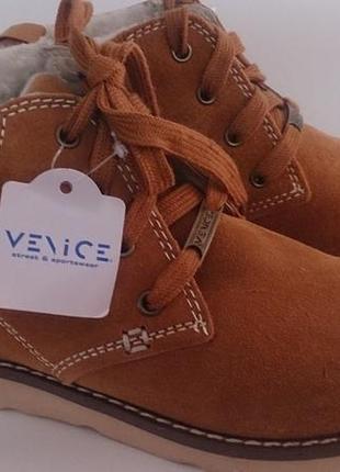 Ботинки зимние ,натуральный замш, venice ( германия) м.
