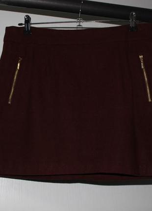 Теплая юбка большого  размера reserved 50% шерсть.