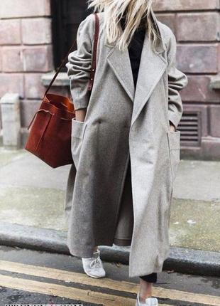 Пальто оверсайз , демисезон из смесовой шерсти h&m!