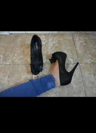 Туфли aldo кружево каблук