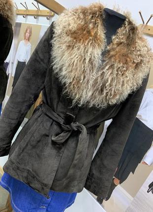 Куртка с мехом ламы