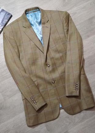 Шерстяной пиджак в клетку brook taverner